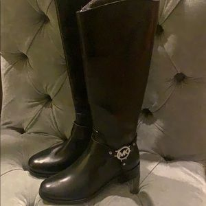 Michael Kors leather riding boot. Never worn